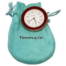 Tiffany & Co. Small Travel Alarm Clock/ Pocket Watch, Works Great!