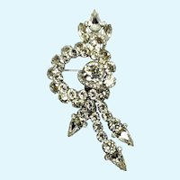 Eisenberg Large Rhinestone Articulated Dangling Brooch