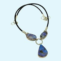 Boulder Opal Boho Statement Necklace