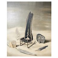 The Witch's Rocker. Channing Hare. Oil painting. 1947