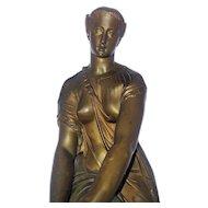 Thetis. Bronze Sculpture. Emile Pierre Eugene Hebert. Stamped 1867 Medaille D'or