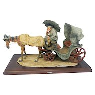 Giuseppe Armani rare limited edition. Fantastic old man with horse and carriage