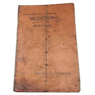 Original Pierce Single Cylinder Motorcycle Operating manual. 1910-1912
