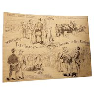 "1884 Cincinnati Election political satire. Free Trade Methods ""Democratic Repeaters"".  Riots of 1884"