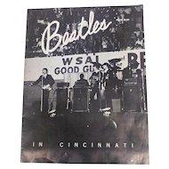 Beatles Cincinnati Commemorative Program 1964 WSAI