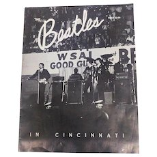 Beatles Cincinnati Commemorative Program 1964 WSAI