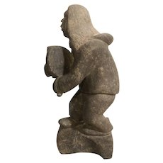 Greenlandic Inuit carving. Artist signed. Karl Kristoffersen 1949