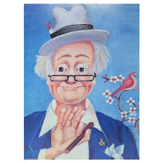"""Red Skelton Signed Lithograph """"The Noble"""" Clown  847/2500 with COA"""