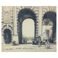 Malcolm Osborne Admiralty Arch etching.  Hand signed.