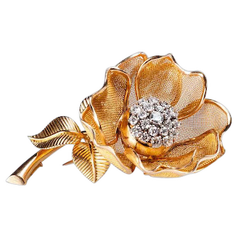 French rose brooch