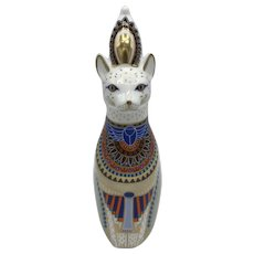 Royal Crown Derby Royal Cat- Egyptian - NO box dated 1987