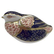 Royal Crown Derby Porcelain Quail Paperweight with box dated 1989.
