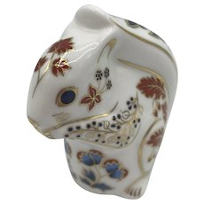 Royal Crown Derby Porcelain Squirrel Paperweight with box dated 1990.