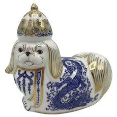 "Royal Crown Derby National Dog - Chinese ""Pekinese"" (Pekingese) - NO box dated 1993"