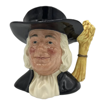 Large Royal Doulton Mr Quaker Character Jug D6738 c. 1985