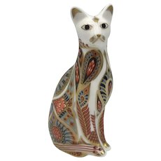 Royal Crown Derby Siamese Cat Paperweight with box -1996.