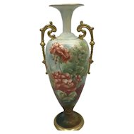 Antique American Porcelain CAC / Ceramic Art Company Belleek Geranium Vase c. 1889-1906