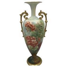 Antique American Porcelain CAC / Ceramic Art Company Belleek Geranium Vase c. 1889-1906