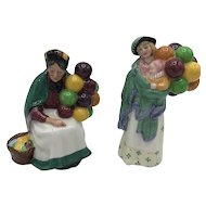 Pair of Royal Doulton Balloon Sellers HN2129 and HN2130 c. 1989 - 1990