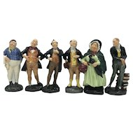 All 6 3rd Version Royal Doulton Dickens Miniatures c. 1952-1967 HN2096-HN2101