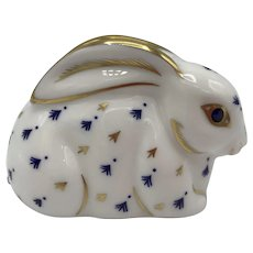 Vintage Royal Crown Derby Baby Rabbit Paperweight NO box dated 1990