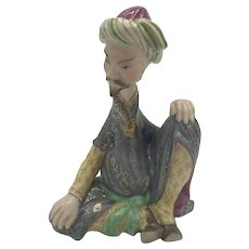 """Vintage Herend Persian Miniature Man """"Sitting"""" -  Model 15403 (no box) dated May 1993"""