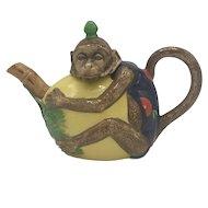 Vintage Minton Majolica Monkey Teapot (no box) from 1993