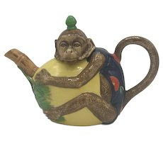 Vintage Minton Majolica Monkey Teapot (no box) from 1993