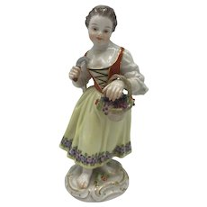 Meissen Figurine, Female Gardener c. Late 19th to early 20th Century