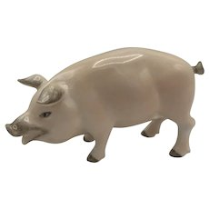 Vintage Herend Porcelain Small Pig -- Natural Model 15301 (no box) purchased in 1991