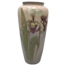 American Porcelain Lenox Belleek Orchid Pedestalled Vase c. 1906-1924