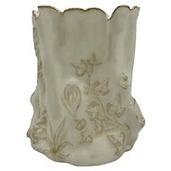 Antique American Porcelain Ott and Brewer Belleek Tree Shaped Vase c. 1883-1892