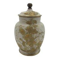 Antique American Porcelain CAC / Ceramic Art Company Belleek Potpourri Jar c. 1889-1906