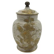 Antique American Porcelain CAC / Ceramic Art Company Belleek Potpourri Jar c. 1889-1906