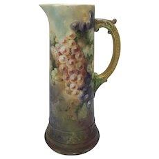 Antique American Porcelain CAC / Ceramic Art Company Belleek Grapes Tankard c. 1900