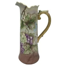 Antique American Porcelain Willets Belleek Ruffled Top Tankard c. 1885-1909
