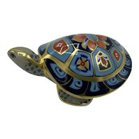 Royal Crown Derby Porcelain Paperweight Terrapin- WITH box dated 2000
