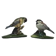 Assembled Pair of Vintage Gort Bone China Bird Figurines c. 1944-1954