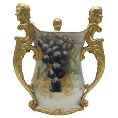 Antique American Porcelain CAC / Ceramic Art Company Belleek 3 Handled Vase c. 1889-1906