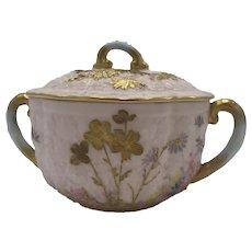 Antique American Porcelain CAC / Ceramic Art Company Belleek Sugar Bowl c. 1889-1906