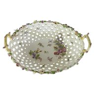 Bow English Porcelain Oval Basket c. 1760