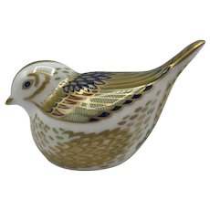 Royal Crown Derby Porcelain Firecrest Bird - with box dated 1999