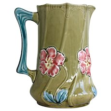 French Majolica Jug or Pitcher Fives Lille