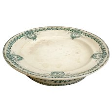 French vintage ironstone cake or patisserie stand, footed plate