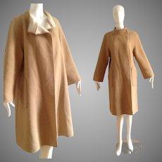 Vintage 70s Virgin Wool Swing Coat ~ Minimalist Design Over Coat ~ By Wetherall