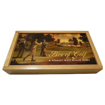 BOX OF GOLF - A Classic Gold Board Game