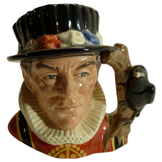 Royal Doulton Large Toby Jug THE YEOMAN OF THE GUARD #D6873 Modelled by Stanley James Taylor 1990