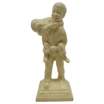 """Boys Town Ceramic Figurine - He Ain't Heavy, Father He's M' Brother - 7"""" tall"""