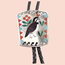 Sammy Esther Guardian Quail Bird Bolo Tie Necklace
