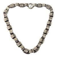 """Napier Gold Washed over Sterling Silver Link Necklace 17"""" Long"""